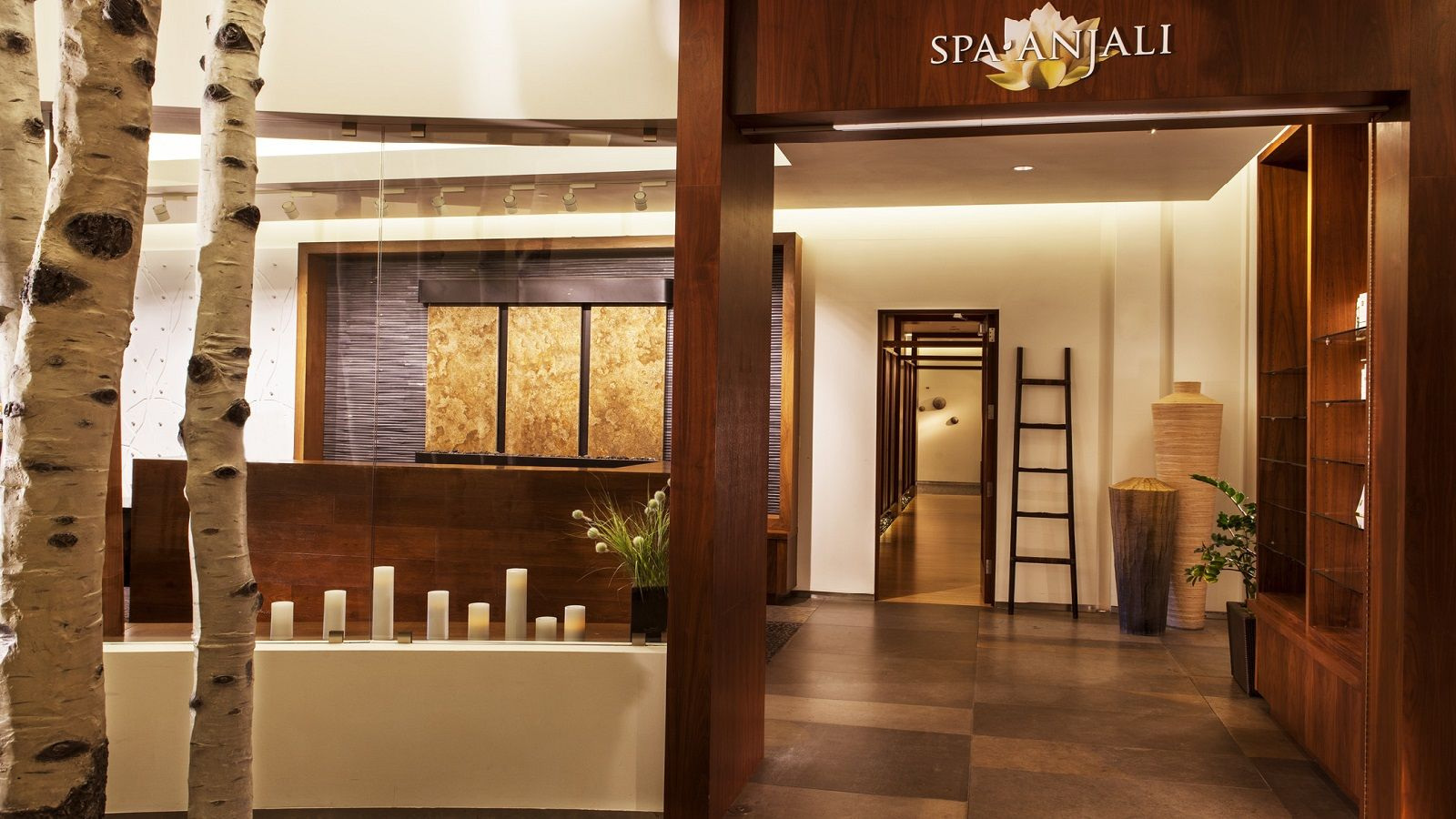 beaver creek spa anjali feature wall